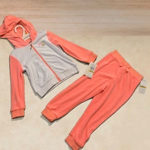 Juicy Couture Girls 3T Velour Track Set